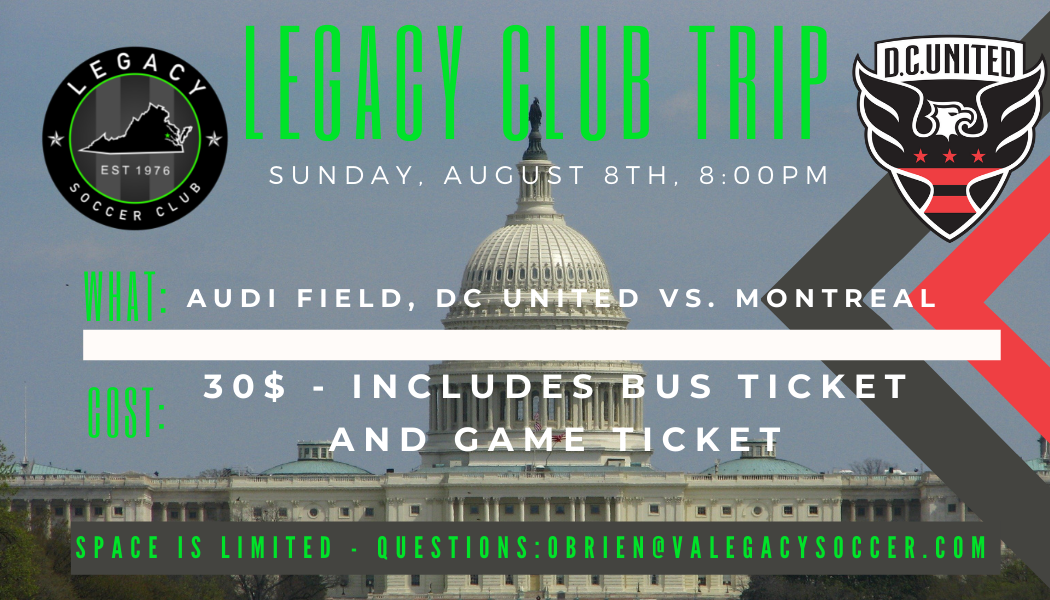 Legacy Day at DC United - August 8th