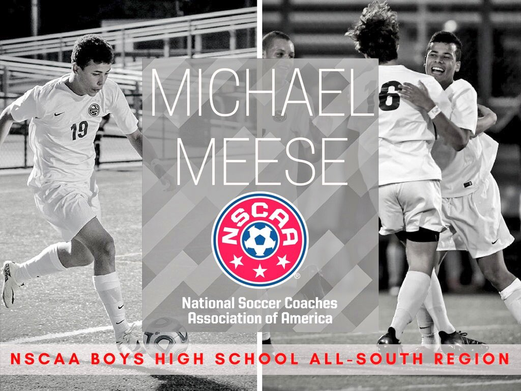 Michael Meese Earns NSCAA All-South Region Honors