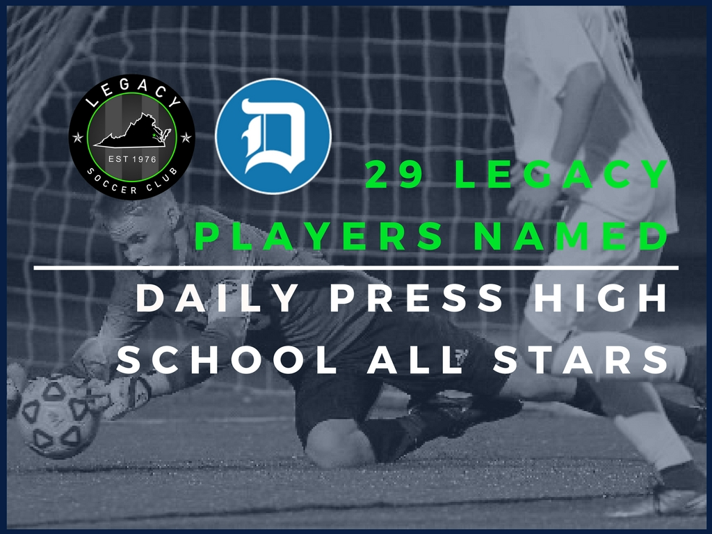29 LEGACY PLAYERS NAMED DAILY PRESS HIGH SCHOOL ALL-STARS