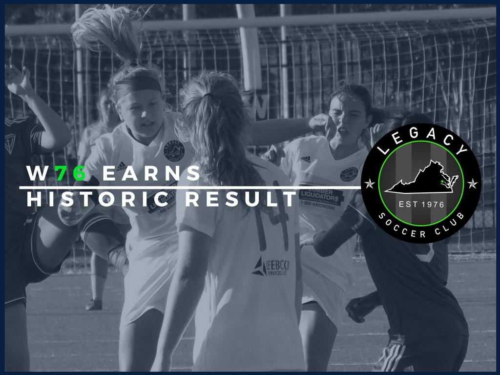 W76 Earns Historic Result against Fredericksburg FC