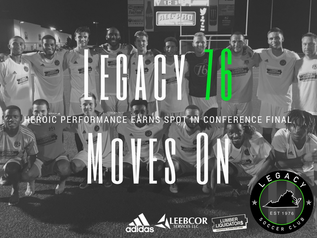 Legacy 76 Earns Spot In Conference Finals