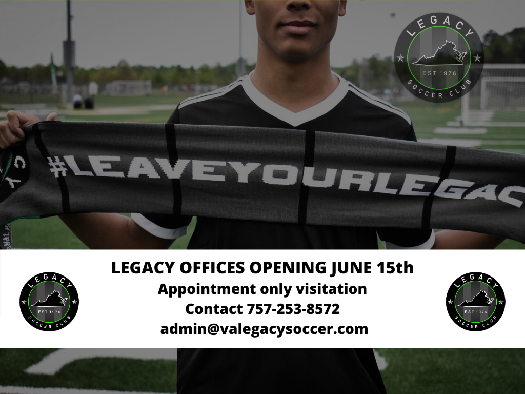 Legacy Offices Opening June 15th