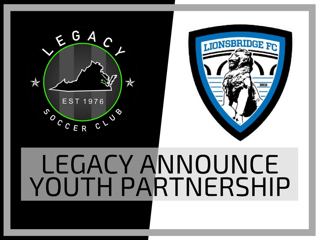 Legacy Announces Youth Partnership with Lionsbridge FC