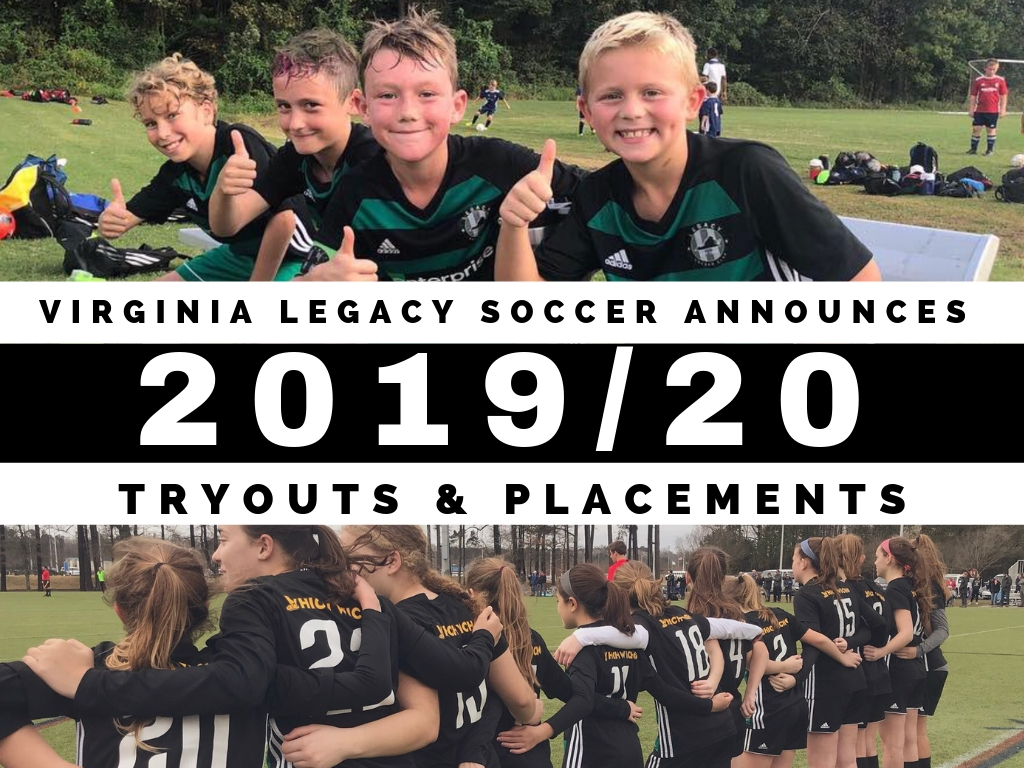 Legacy Announces 2019/20 Tryout and Placement Dates
