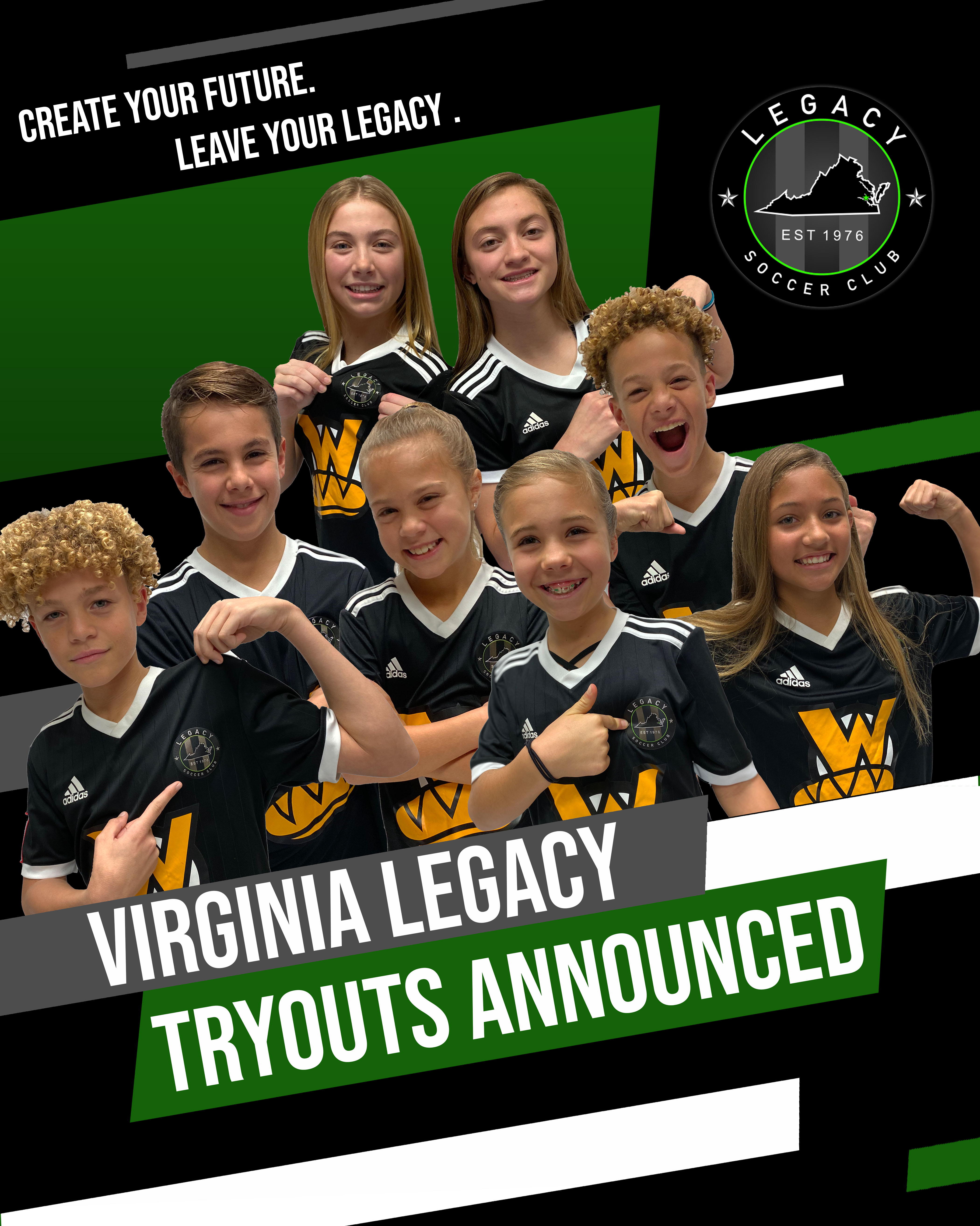Legacy Announces Finalized Times for June Tryouts!